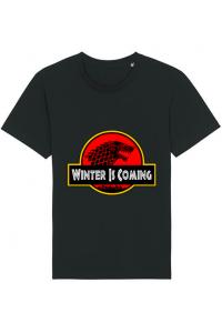 Tricou ADLER copil Jurassic winter Negru