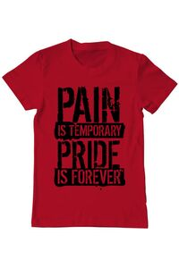 Tricou ADLER copil Pain and pride Rosu