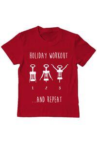 Sacosa din panza Holiday workout Rosu
