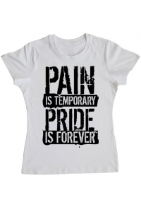 Tricou ADLER barbat Pain and pride Alb