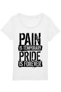Perna personalizata Pain and pride Alb