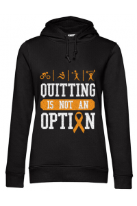 Hoodie barbat cu gluga Quitting is not an option Negru