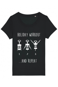 Tricou ADLER dama Holiday workout Negru