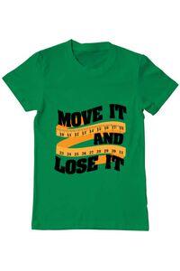Tricou ADLER copil Move it and lose it Verde mediu