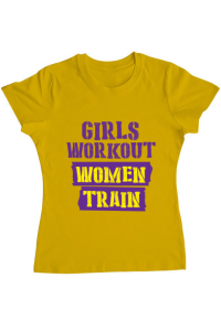 Tricou ADLER barbat Women train Galben