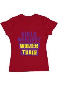 Tricou ADLER copil Women train Rosu