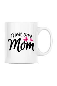Mousepad personalizat First time mom Alb