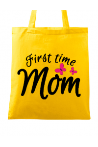 Tricou ADLER dama First time mom Galben