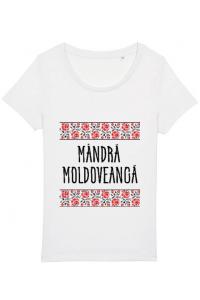 Tricou STANLEY STELLA barbat Mandra moldoveanca Alb