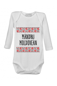 Masca personalizata reutilizabila Mandru moldovean Alb