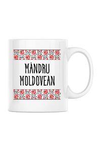 Tricou ADLER copil Mandru moldovean Alb