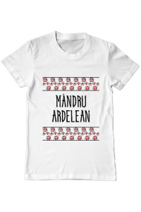 Tricou ADLER dama Mandru ardelean Alb