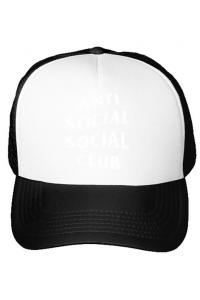 Sacosa din panza Anti social Alb