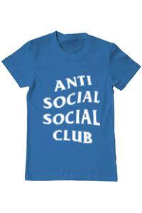 Tricou ADLER dama Anti social Albastru azuriu