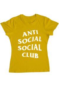 Sacosa din panza Anti social Galben