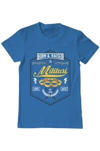 Tricou ADLER dama Militari Albastru azuriu