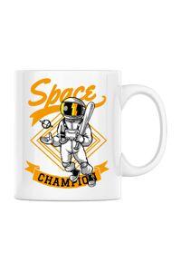 Tricou ADLER copil Space champion Alb