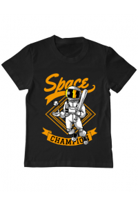 Hoodie dama cu gluga Space champion Negru
