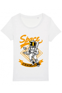 Cana personalizata Space champion Alb
