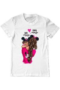 Perna personalizata Mama and baby Mouse Alb