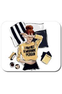 Perna personalizata I am not a morning person Alb