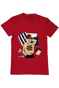 Tricou ADLER copil I am not a morning person Rosu