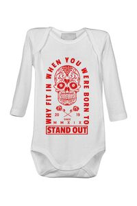 Cana personalizata Born to stand out Alb