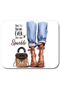 Cana personalizata Sparkle all day Alb