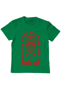 Tricou ADLER dama Born to stand out Verde mediu