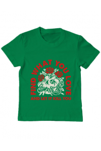 Tricou ADLER dama Find what you love Verde mediu