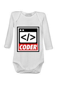 Mousepad personalizat Coder Alb