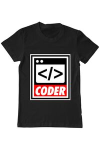 Tricou ADLER copil Coder Negru