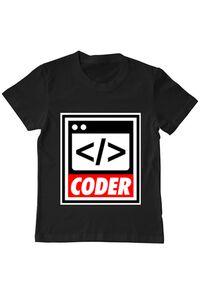 Masca personalizata reutilizabila Coder Negru