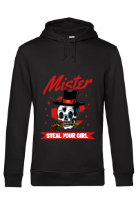 Hoodie dama cu gluga Mr. steal your girl Negru