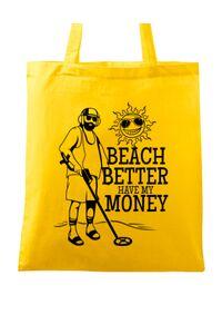 Tricou ADLER barbat Beach better have my money Galben