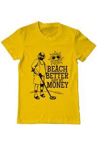 Sacosa din panza Beach better have my money Galben