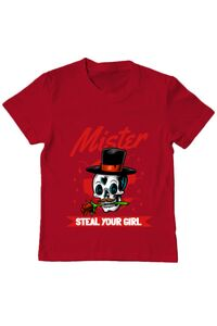 Tricou ADLER barbat Mr. steal your girl Rosu