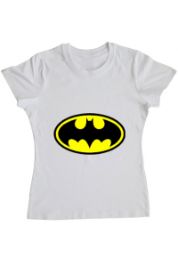 Tricou ADLER barbat Batman Alb
