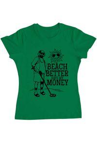 Tricou ADLER copil Beach better have my money Verde mediu