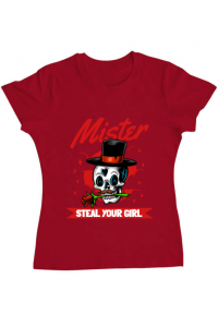 Tricou ADLER barbat Mr. steal your girl Rosu