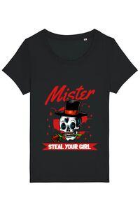 Tricou ADLER barbat Mr. steal your girl Negru
