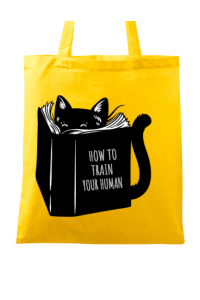 Tricou ADLER barbat How to train your human Galben