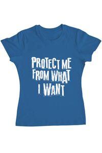 Tricou ADLER barbat Protect me Albastru azuriu