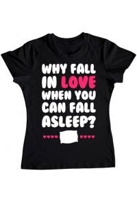 Masca personalizata reutilizabila Why fall in love Negru