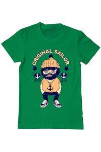Tricou ADLER copil Original sailor Verde mediu