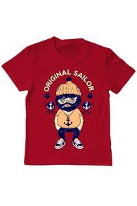 Tricou ADLER barbat Original sailor Rosu