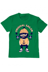 Tricou ADLER barbat Original sailor Verde mediu
