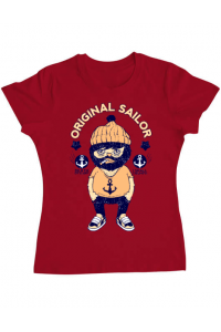 Tricou ADLER copil Original sailor Rosu