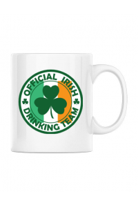 Perna personalizata Irish Drinking Team Alb