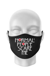 Hoodie barbat cu gluga Normal people scare me Negru